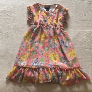 Ralph Lauren Girls Floral Ruffled Dress